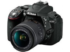 Цифрова фотокамера дзеркальна Nikon D5300 kit AF-P 18-55 VR Black