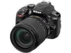 Цифрова фотокамера дзеркальна Nikon D3400 kit AF-S DX 18-105 мм VR