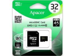 Карта пам'яті Apacer Micro SDHC 32 ГБ (AP32GMCSH10U1-R)