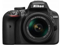 Цифрова фотокамера дзеркальна Nikon D3400 kit AF-P 18-55мм Non-VR
