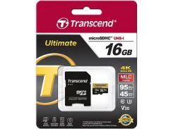 Карта пам'яті Transcend Ultimate Micro SDHC 16 ГБ (TS16GUSDU3M)