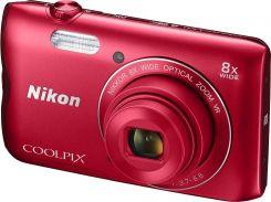 Цифрова фотокамера Nikon Coolpix A300 Red