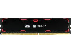 пам'ять goodram iridium black ddr4 1x4 гб (ir-2400d464l15s/4g)