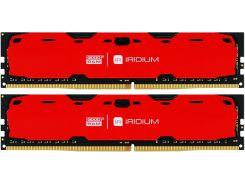 Пам'ять GoodRam Iridium Red DDR4 2x4 ГБ (IR-R2400D464L15S/8GDC)