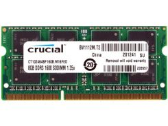 Пам'ять для ноутбука Crucial DDR3 1х8 ГБ (CT102464BF160B)