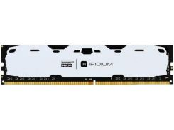 Пам'ять GoodRam Iridium White DDR4 1x8 ГБ (IR-W2400D464L15S/8G)