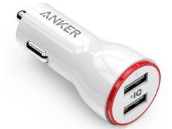 Автомобільний зарядний пристрій Anker PowerDrive 2 White