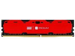 Пам'ять GoodRam Iridium Red DDR4 1х8 ГБ (IR-R2400D464L15S/8G)