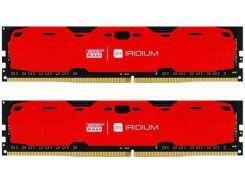 Пам'ять GoodRam Iridium Red DDR4 2x8 ГБ (IR-R2400D464L15S/16GDC)