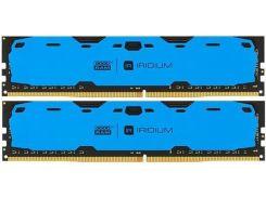 Пам'ять GoodRam Iridium Blue DDR4 2x8 ГБ (IR-B2400D464L15S/16GDC)