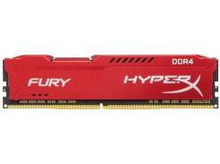 Оперативна пам'ять  Kingston HyperX Fury Red DDR4 1x16GB  (HX426C16FR/16)