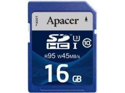Карта пам'яті Apacer SDHC 16GB AP16GSDHC10U3-R