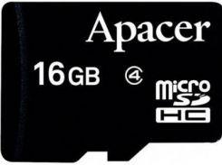 Карта пам'яті Apacer Micro SDHC 16GB AP16GMCSH4-RA