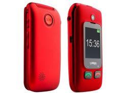 Мобільний телефон SIGMA Comfort 50 Shell Black/Red   (Comfort 50 Shell DUO black-red)