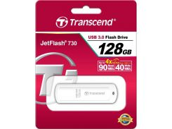 флешка usb  transcend jetflash 730 128gb ts128gjf730 white