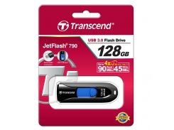 Флешка USB  Transcend JetFlash 790 128GB TS128GJF790K Black
