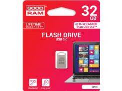 Флешка USB  GOODRAM Point 32GB UPO3-0320S0R11 Silver