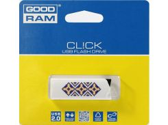 Флешка USB  GOODRAM Click Ukraine 32GB UCL2-0320W0R11-L White