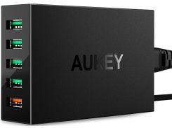 Зарядний пристрій AUKEY PowerPort 5 PA-T15 Black
