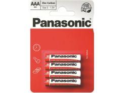Батарейка Panasonic Red Zink-Carbon ААА (BLI/4)