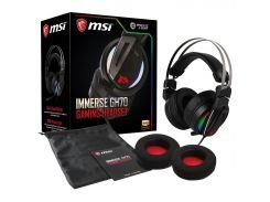Гарнітура MSI Immerse GH70 Black/Silver  (IMMERSE GH70 GAM HEADSET)