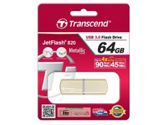 Флешка USB  Transcend JetFlash 820 64GB Gold