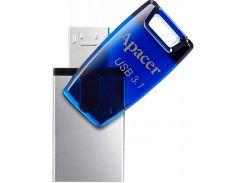 Флешка USB  Apacer AH179 OTG 64GB AP64GAH179U-1 Mobile Blue