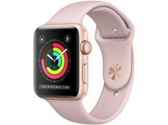 Смарт годинник Apple Watch Series 3 A1858 GPS 38mm Gold Aluminium with Pink Sport Band  (MQKW2)