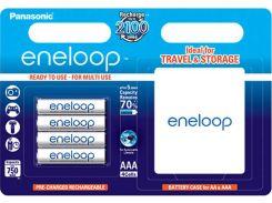 Акумулятор Panasonic Eneloop AAA 750 mAh (BL/4)+case