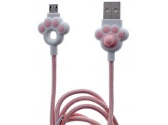 Кабель JoyRoom S-M125 AM / Micro USB 1m  White/Pink