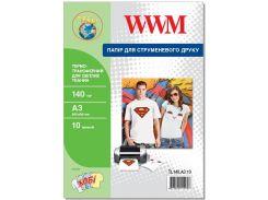 Термотрансфер А3 WWM для світлих такнин 10 аркушів (TL140.A3.10)