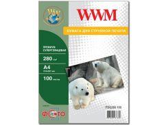 Фотопапір A4 WWM суперглянцевий 100 аркушів (PSG280.100)