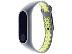 Ремінець для фітнес браслету Mijobs Xiaomi Mi Band 2 cірий/Green