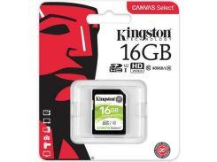 Карта пам'яті Kingston Canvas Select SDHC 16GB SDS/16GB