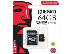 Карта пам'яті Kingston Canvas Select Micro SDXC 64GB SDCS/64GB