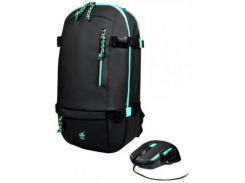 Рюкзак для ноутбука Port Designs Gaming BackPack + Mouse Green