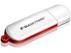 Флешка USB  Silicon Power LuxMini 320 32GB SP032GBUF2320V1W White