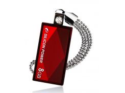 Флешка USB  Silicon Power Touch 810 8GB SP008GBUF2810V1R Red