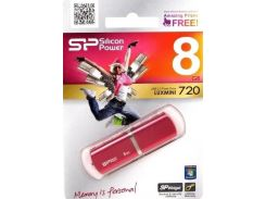 Флешка USB  Silicon Power LuxMini 720 8GB SP008GBUF2720V1H Pink