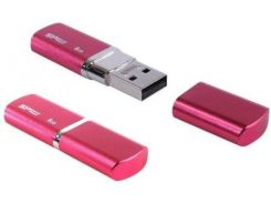 Флешка USB  Silicon Power LuxMini 720 16GB SP016GBUF2720V1H Pink
