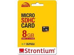 Карта пам'яті STRONTIUM Micro SDHC 8GB SR8GTFC10R