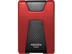 Зовнішній жорсткий диск A-Data HD650 2TB AHD650-2TU31-CRD Red