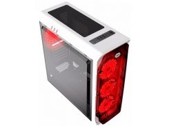Корпус для ПК Gamemax StarLight White/Red  (StarLight W-Red)
