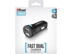 Зарядний пристрій Trust Car Charger 2xUSB Black  (20572)