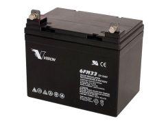 Батарея для ПБЖ VISION 12V 33Ah  (6FM33E-X)