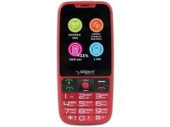 Мобільний телефон SIGMA Comfort 50 Elegance 3 Red