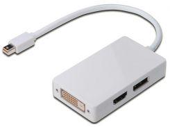Перехідник Digitus MiniDisplayPort to MiniDisplayPort/DisplayPort/HDMI/DVI  (AK-340509-002-W)