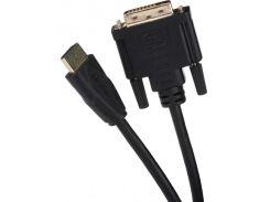 Кабель 2E HDMI to DVI 1.8m Black  (2E-W1701)
