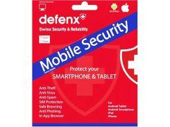 Програмне забезпечення Антивірус Defenx Mobile Security Suite на 1 рік для 1 користувача (ESD)