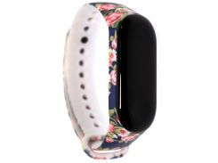 Ремінець Mijobs for Xiaomi Mi Band 3 - TPU Band Color Serias Flowers